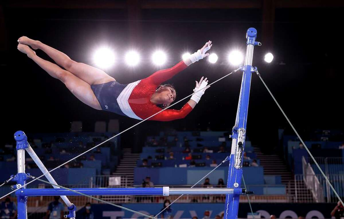 In Tuesday's team event, American Sunisa Lee's 15.4 on the uneven bars tied for the high score in the event.