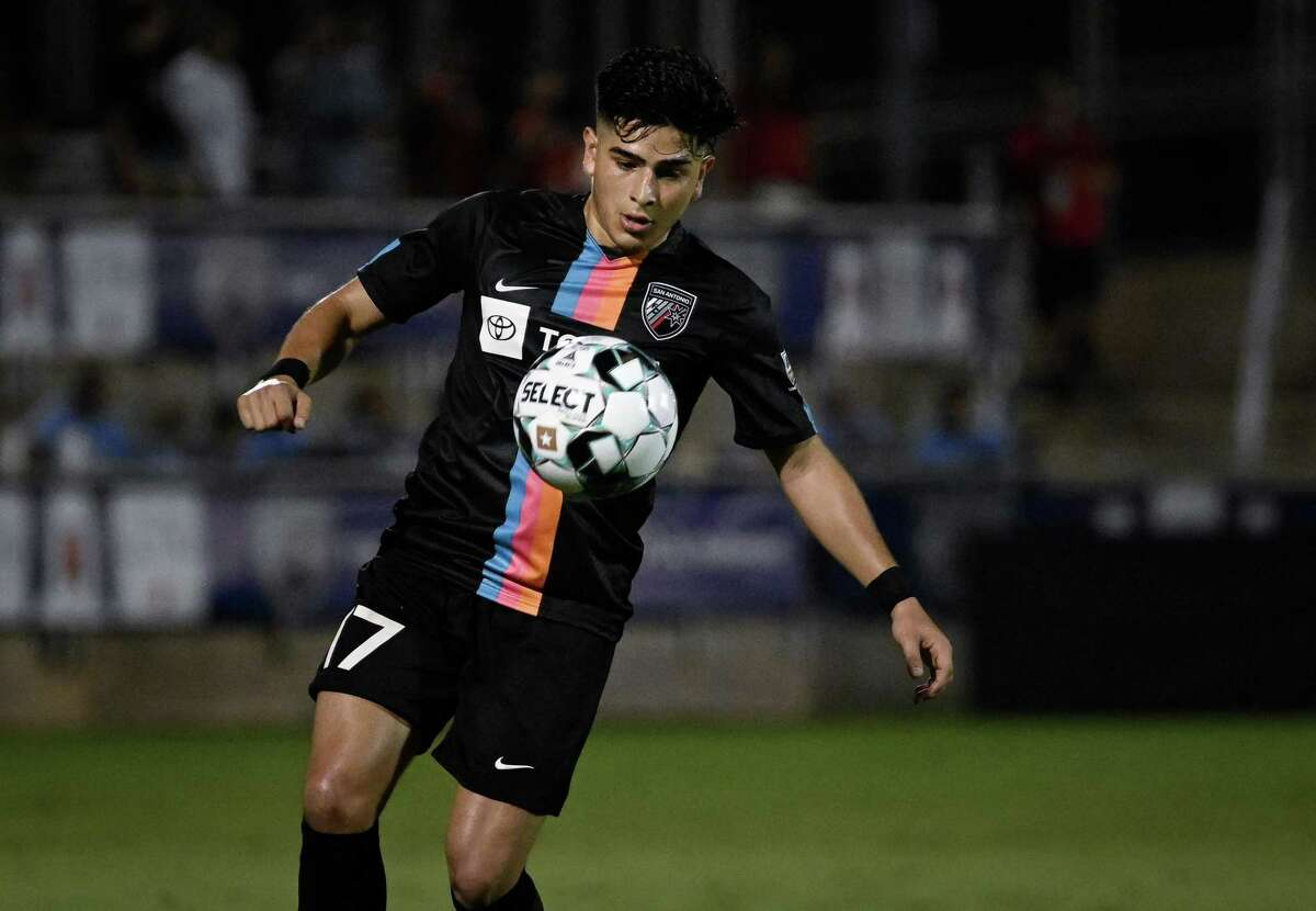 New Mexico United plays San Antonio FC during a USL Championship soccer match on Wednesday, July 21, 2021, at Toyota Field in San Antonio. (Darren Abate/USL Championship)