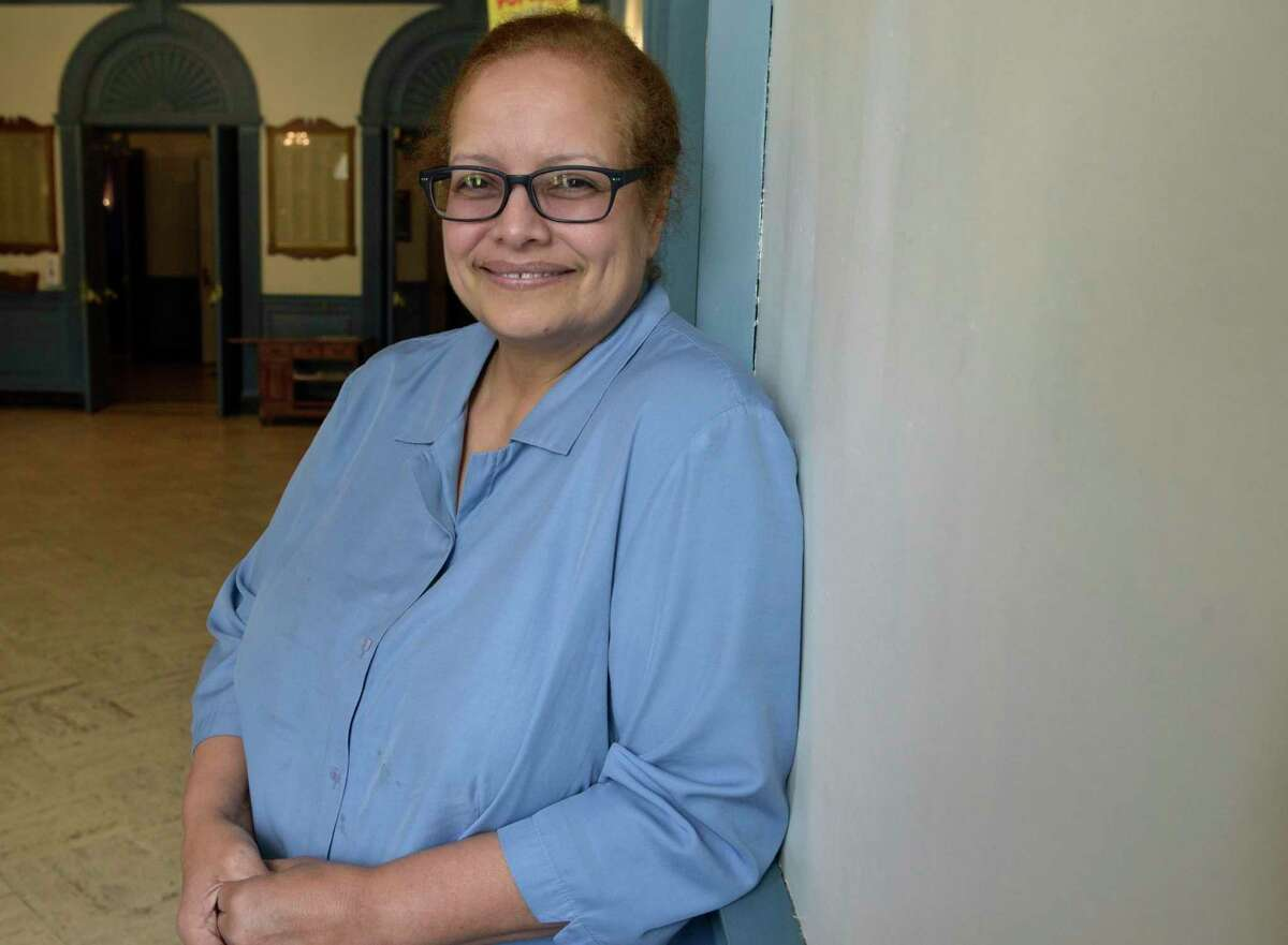 Sheila Torres, operations manager of Edmond Town Hall. Tuesday, July 27, 2021, in Newtown, Conn.