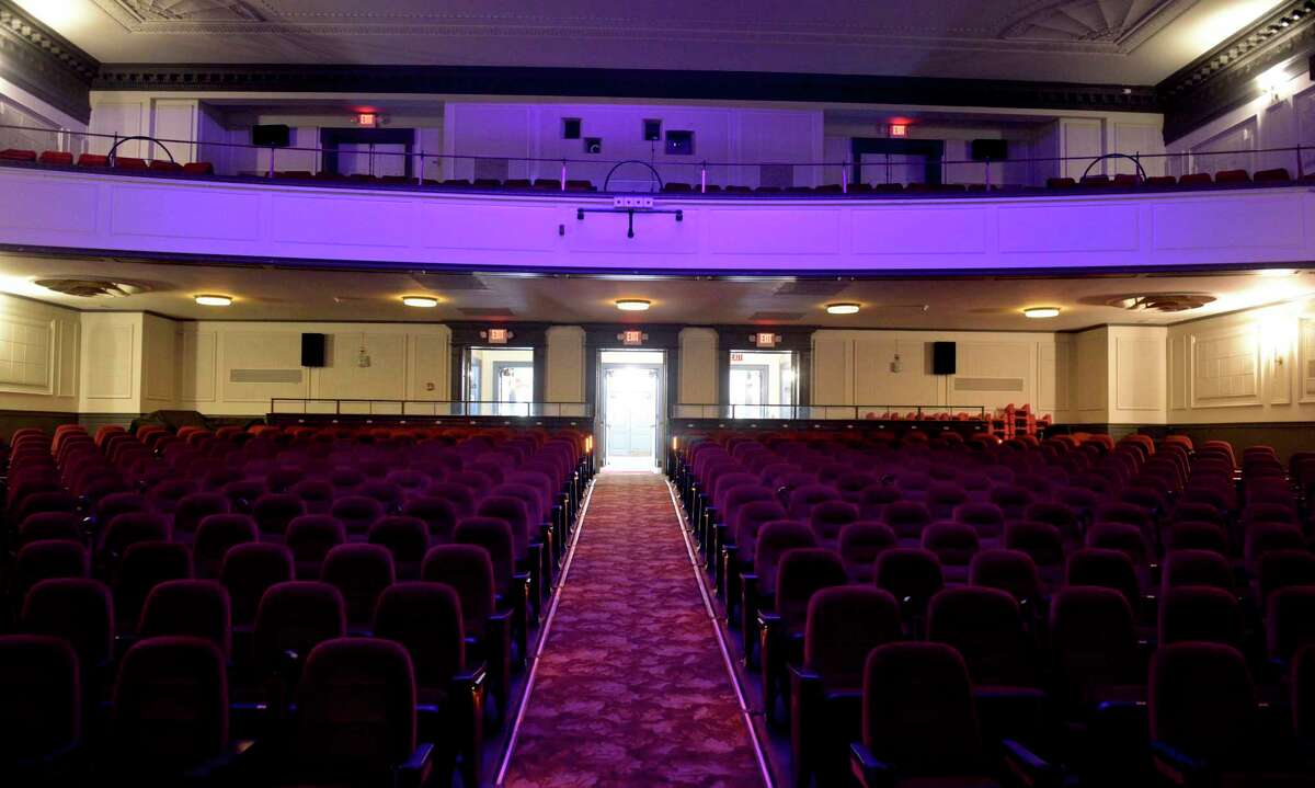 Edmond Town Hall theatre. Tuesday, July 27, 2021, in Newtown, Conn.