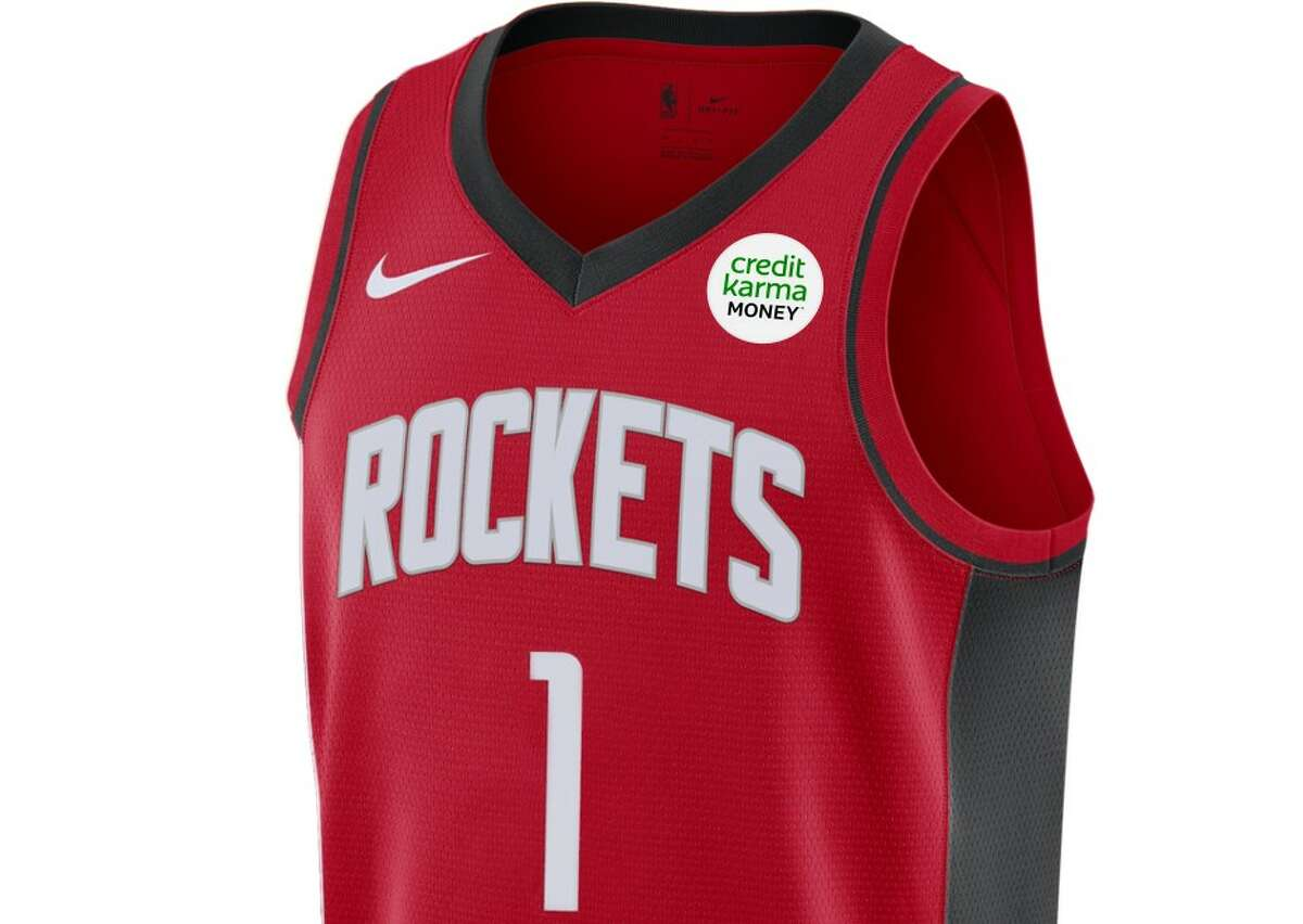 The Rockets uniforms will have a sponsor logo for the 2021-22 season: Credit Karma Money.