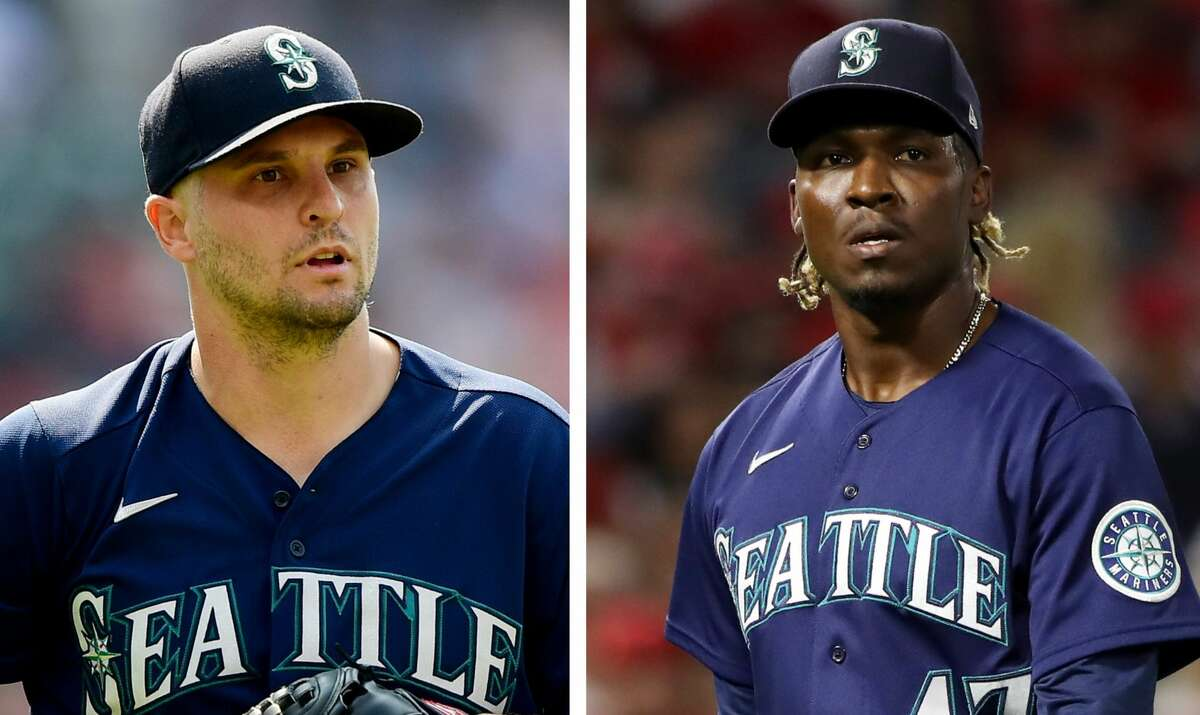The Astros traded for relievers Kendall Graveman (left) and Rafael Montero on Tuesday.
