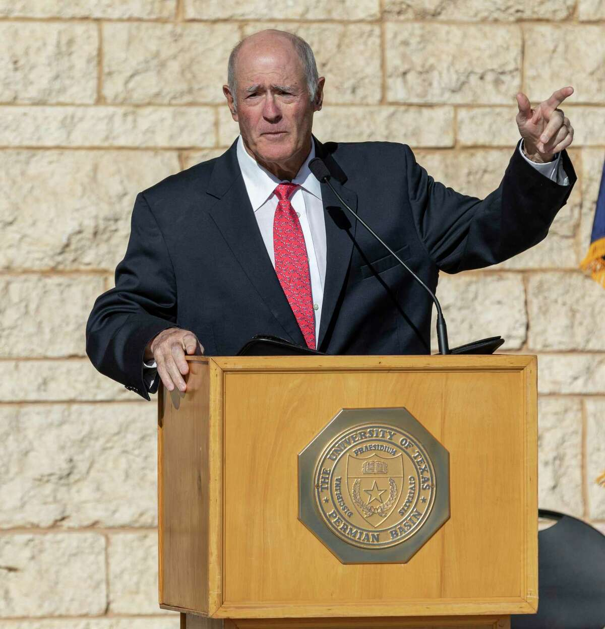 State Senator Kel Seliger speaks at the grand opening for the Engineering Building on Tuesday, Oct. 22, 2019 at the UTPB Midland campus. Jacy Lewis/Reporter-Telegram
