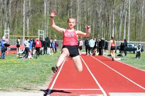 Macy Adams' main focus was the running events, but she also spent time in long jump and pole vault this past spring. (News Advocate file photo)