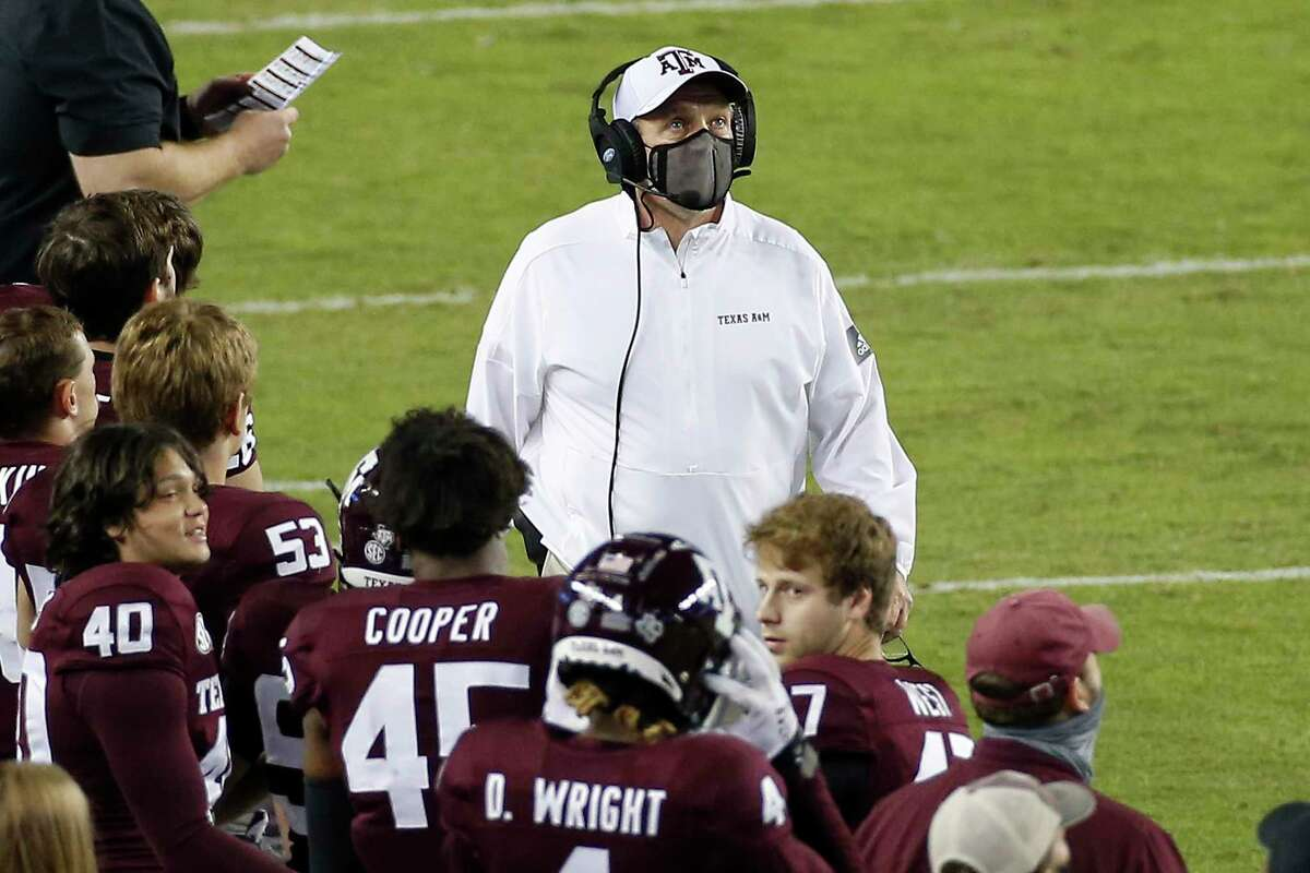 It was Kevin Sumlin, not Jimbo Fisher, above, who ushered the Aggies into the SEC as coach in 2012. A&M offers UT and OU a blueprint of how fast the process of joining in the league can go.