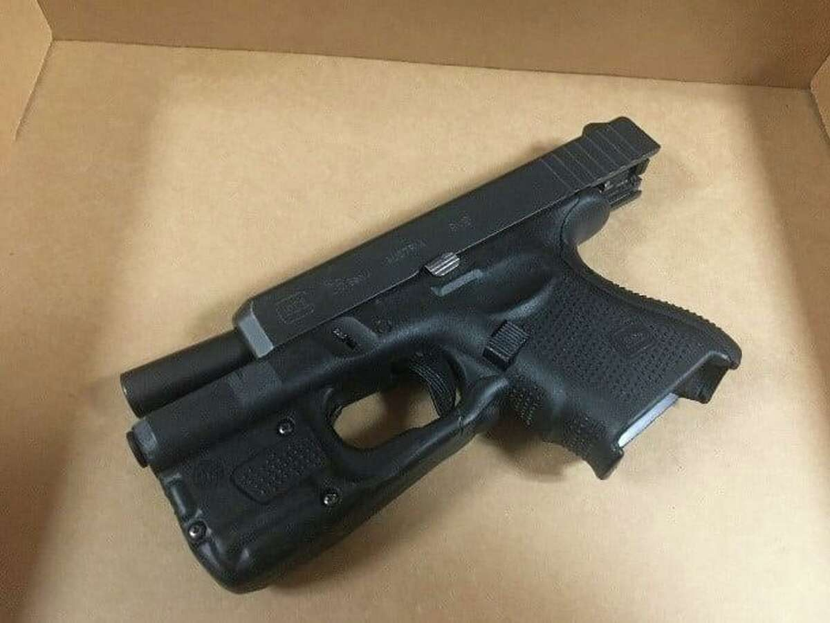 The gun police said officers seized during the arrest of Cameron Acevedo on Monday, July 26, 2021. Police said Acevedo did not use the gun during the alleged kidnapping.