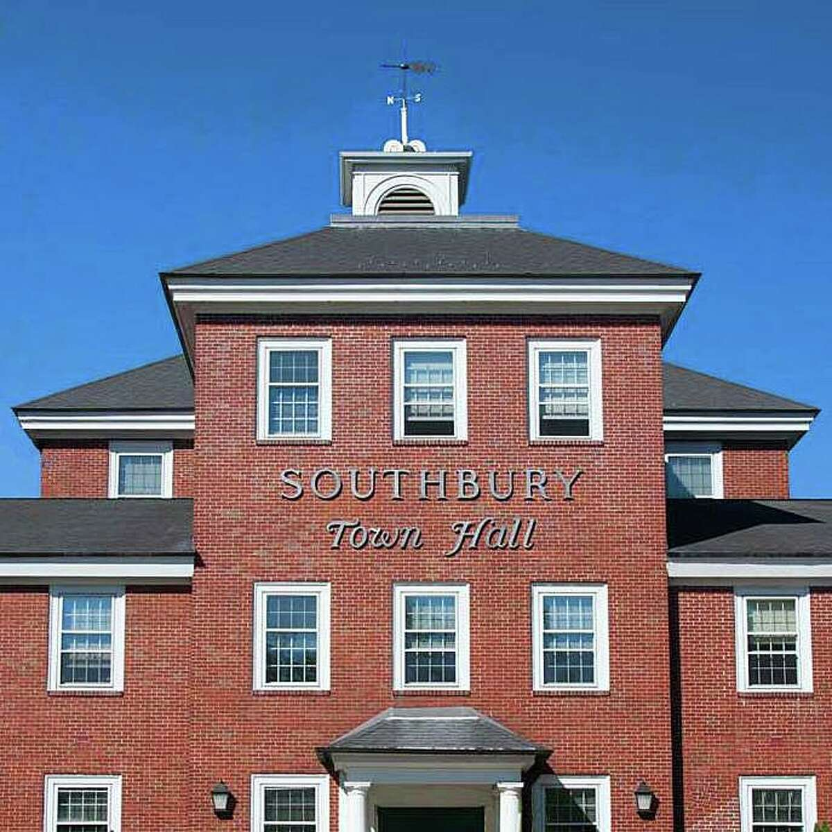 The Board of Selectmen in Southbury, Conn., will address the banner during a special meeting Thursday, July 28, 2021.