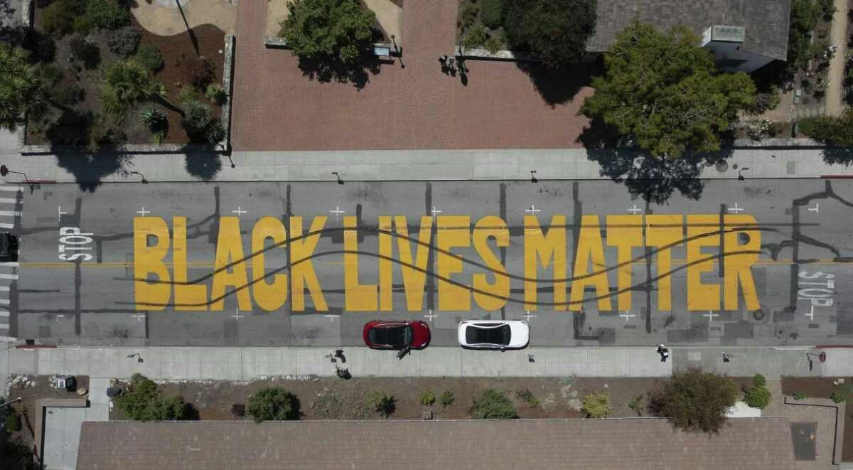 """After a """"Black Lives Mural"""" was vandalized in Santa Cruz, hate crime charges are possible."""