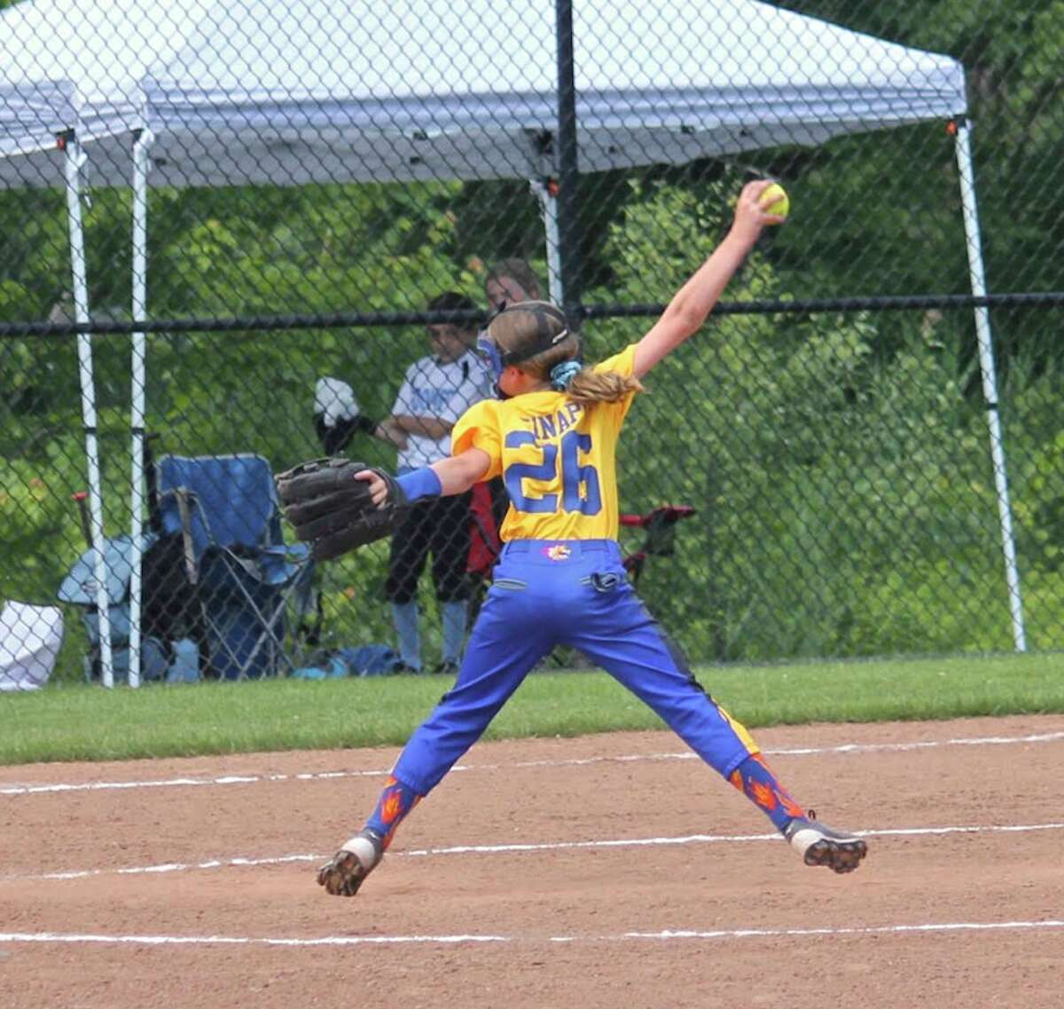 Brookfield Burn U10 girls' softball team is headed to Florida for the World Series today. Olivia Sinapi, #26