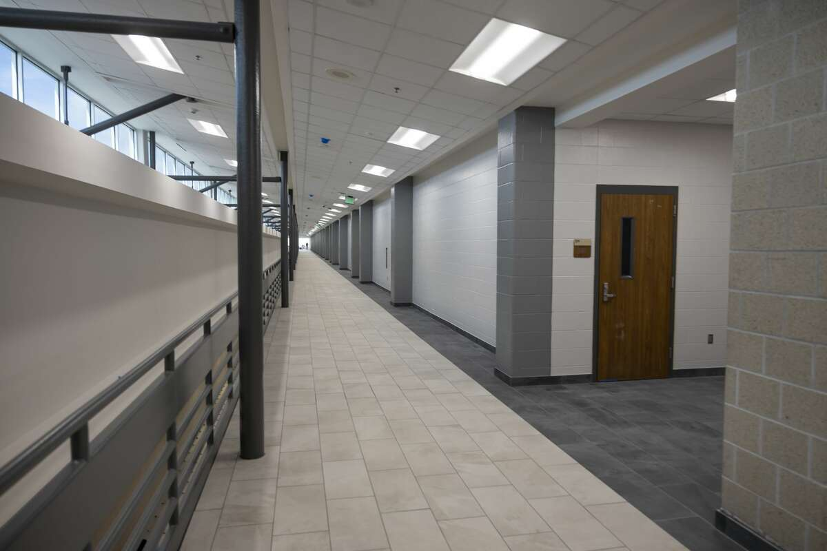 The second floor hallway after renovations done at Conroe High School, Thursday, July 22, 2021, in Conroe.