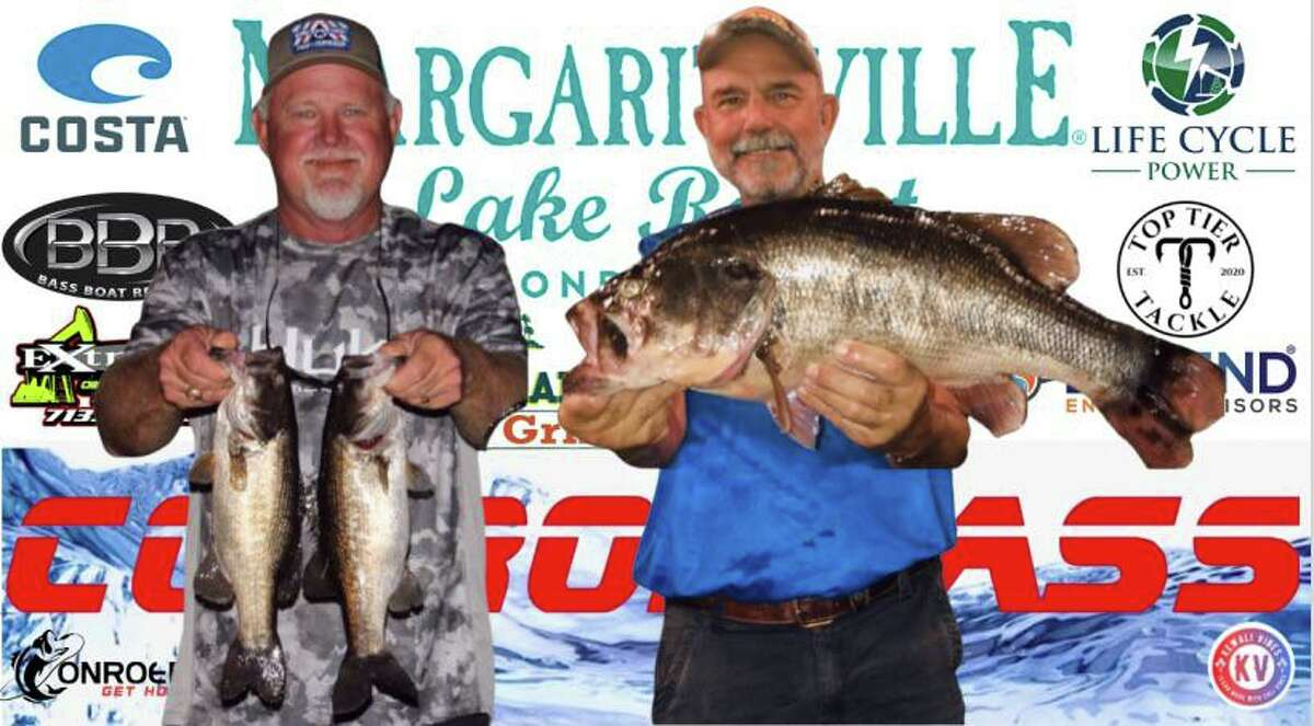 Randy Gunter and Mickey Mueller came in second place in the CONROEBASS Tuesday Tournament with a weight of 14.93 pounds.