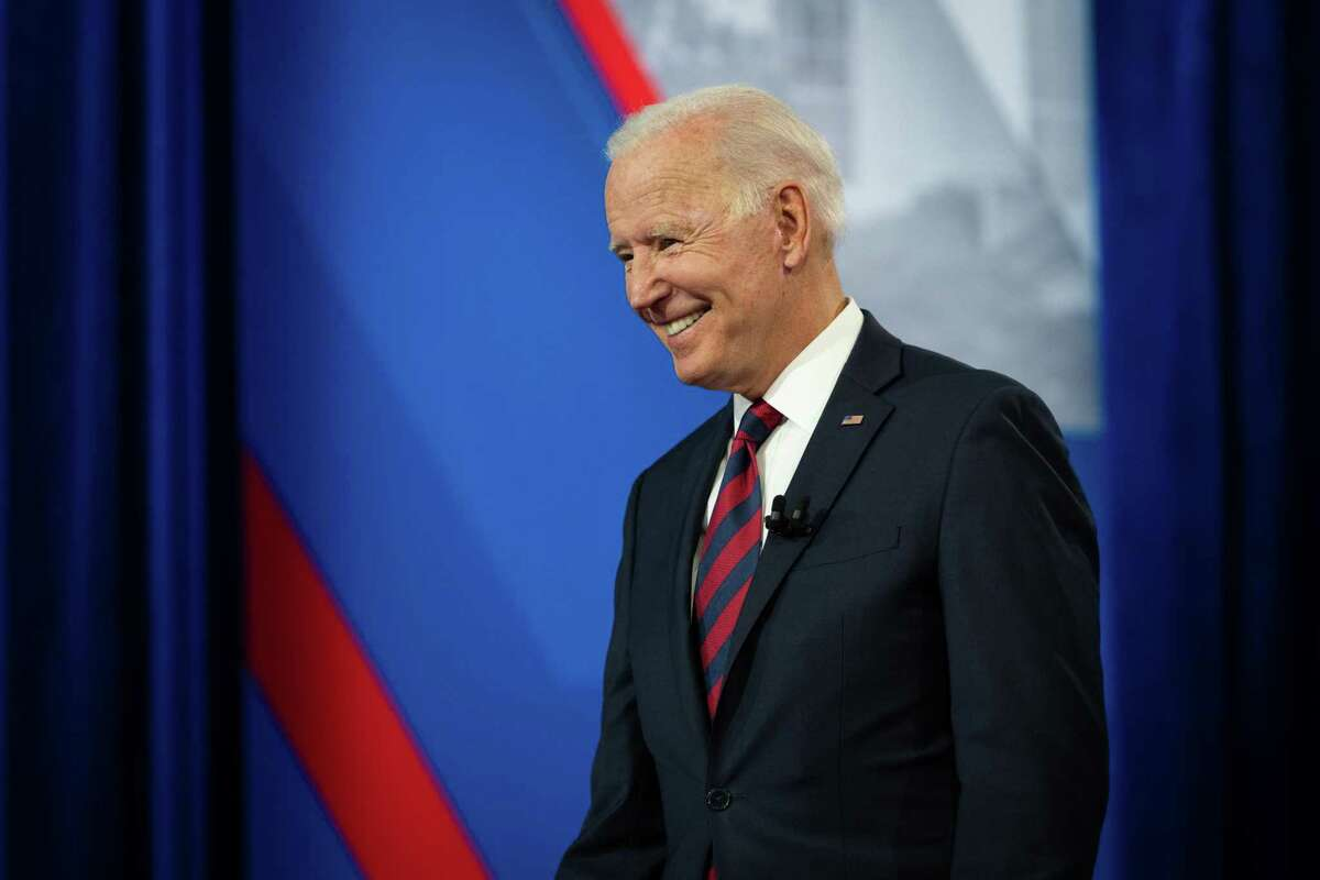 President Joe Biden at a recent CNN town hall. It fizzled in viewership. He's the Olympic badminton competition after a WWE match; he's elevator music after a heavy metal concert; he's the sparkler after a fireworks display.