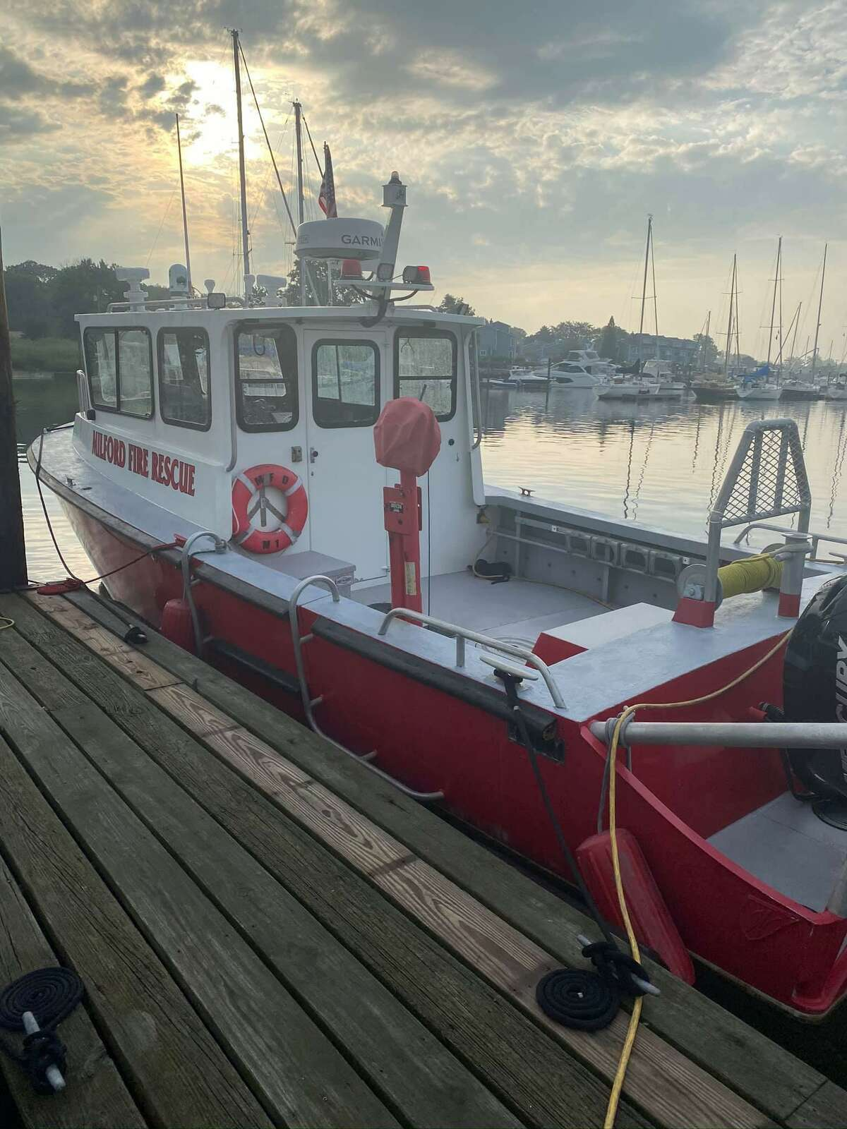 A jet ski collision near Cedar Beach off the shores of Milford, Conn., on Tuesday, July 27, 2021, left one person in critical condition, according to fire officials.