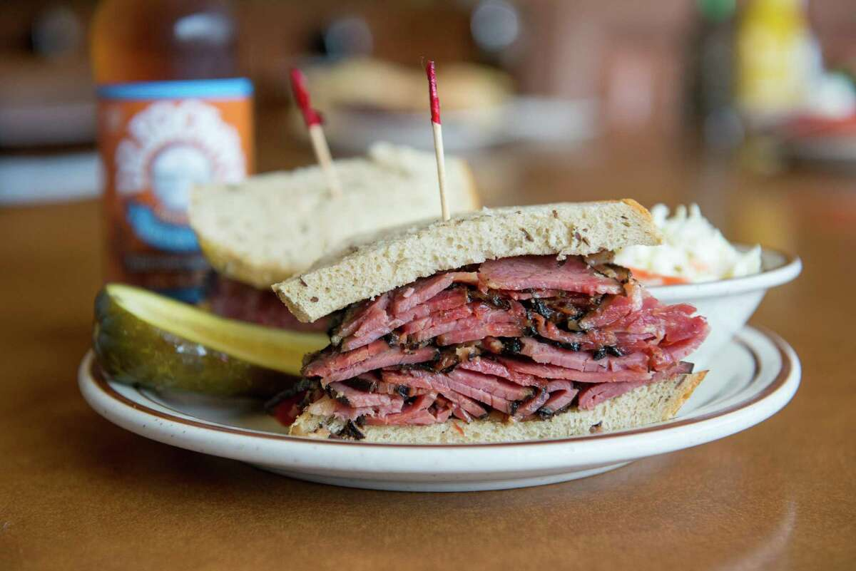 A pastrami sandwich from Canter's Deli. The famous Los Angeles deli is selling dishes through DoorDash Kitchens in San Jose.