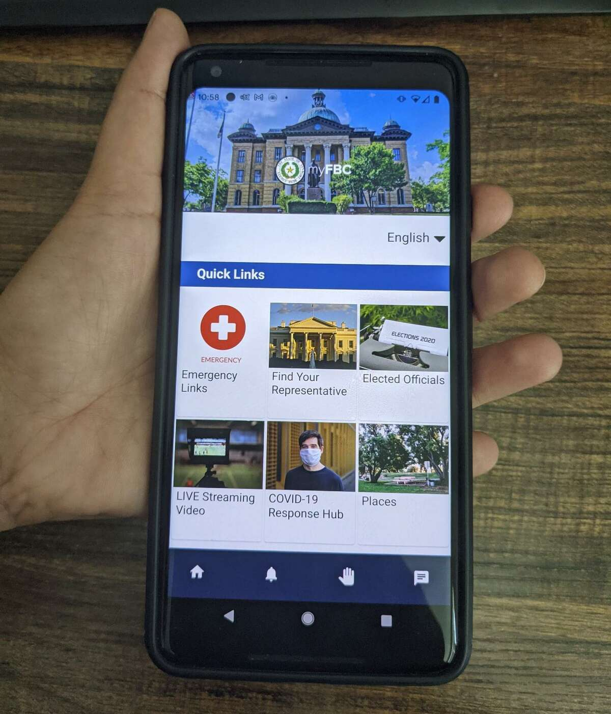 Fort Bend County residents are encouraged to download the interactive, civic engagement mobile app, 'myFBC' on their phones.