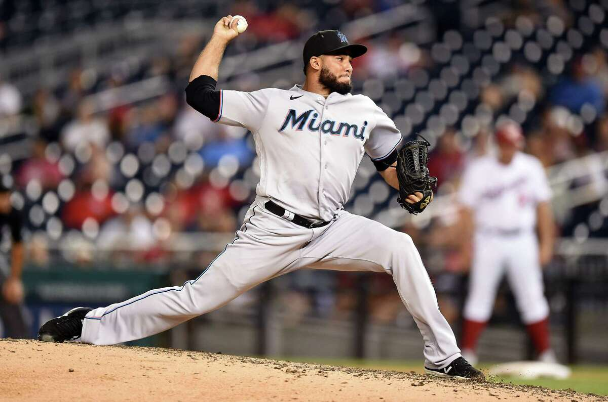 Yimi García, slated to be a free agent at season's end, had a team-high 15 saves for the Marlins.