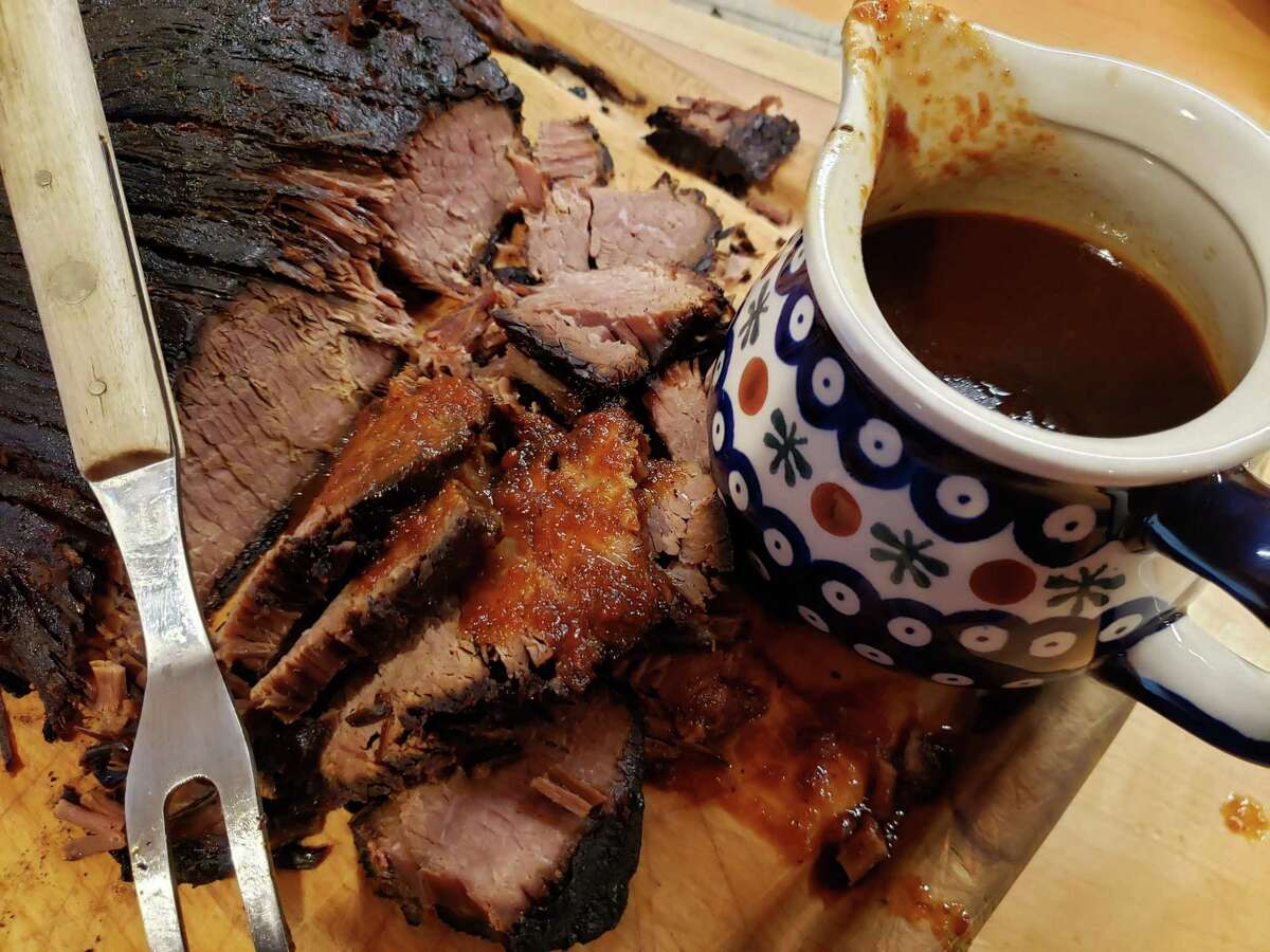 Slow-cooker BBQ brisket.
