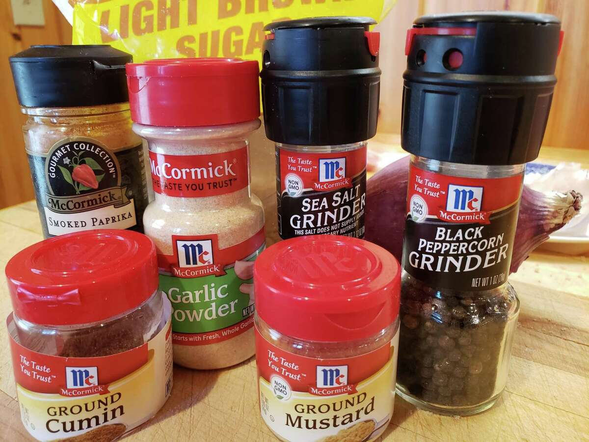 Spices for an overnight dry rub.
