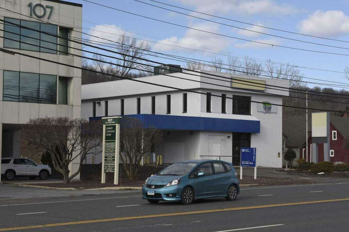 File photo. A former bank building on Danbury's west side at 105 Mill Plain Road is being prepared for a mid-August opening by D & B Wellness, a Bethel-based medical marijuana facility. The new moratorium won't prevent the dispensary from opening.