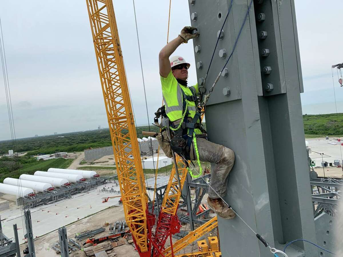 Tommy Leppien of Midland has traveled around the country working on different construction sites. Leppien will soon head for a months-long career opportunity in Antarctica.