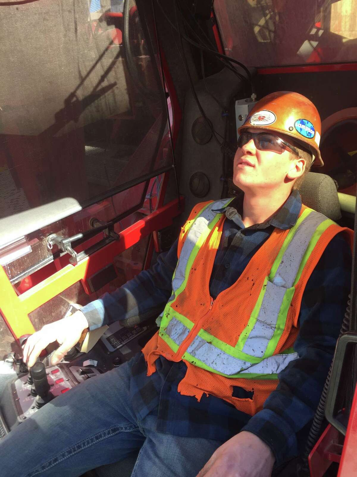 Tommy Leppien of Midland has traveled around the country working on different construction sites. He obtained his crane operator license over a year ago.