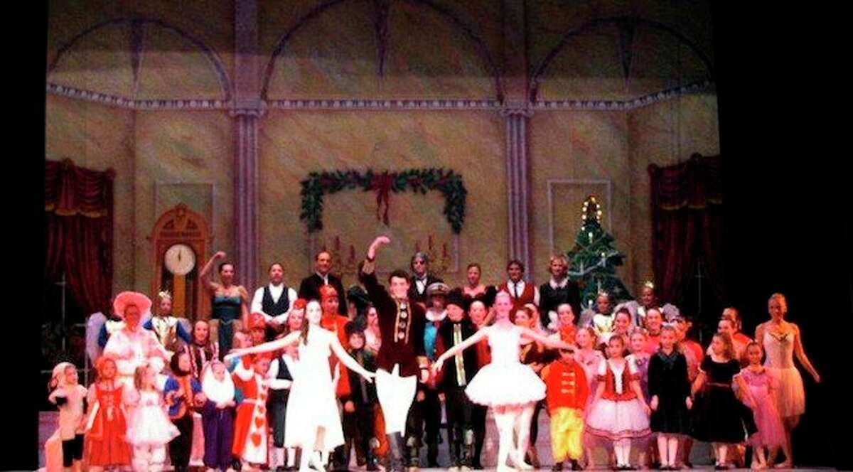 """Dancers perform """"The Nutcracker"""" by Tchaikovsky. It is one of the most popular Christmas ballets performed in the world. The first performance was on Dec. 18, 1982 in St. Petersburgh, Russia. The first performance in the United States was by the San Francisco Ballet on Dec. 24, 1944. The ballet was popularized by reworked choreography by George Balanchine in 1954 for the New York City Ballet. It is estimated that The Nutcracker amounts for 40% of annual ticket revenues of many major American ballet companies. (Courtesy Photo)"""