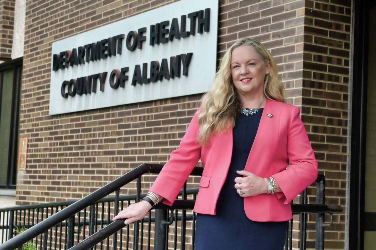 Dr. Elizabeth Whalen, commissioner of the Albany County Department of Health, outside her office on Tuesday, July 13, 2021, in Albany, N.Y. (Paul Buckowski/Times Union)