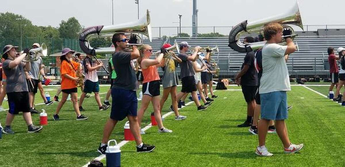Band camp is underway at Edwardsville High School this week.
