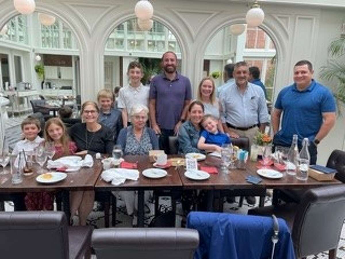 """Justine """"Tina"""" Cook of Delmar celebrates her 80th birthday recently Cook of Delmar at the Adelphi Saratoga with family, the Orokos' of Ballston Lake and the Lifsheys' of Randolph, New Jersey. Her great nephew and niece and their spouses and children are among those in the celebrating with her."""