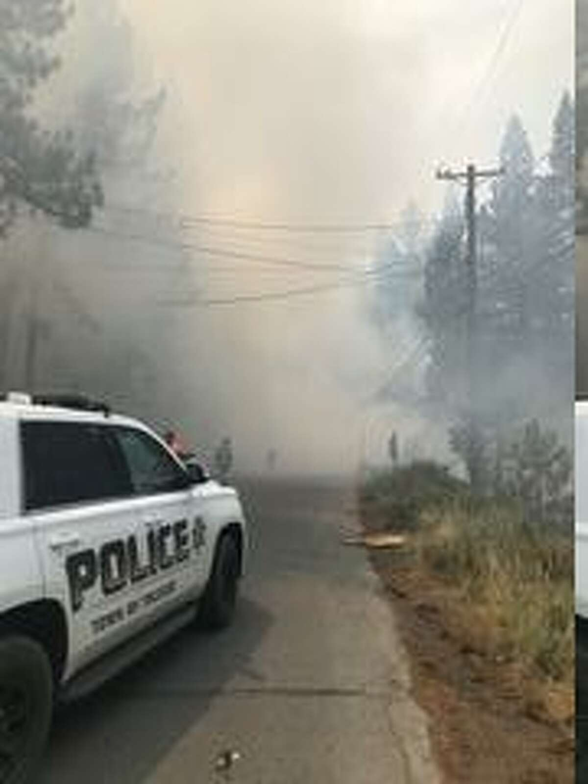 A plane crashed near a golf course in Truckee, California, on July 26, 2021.