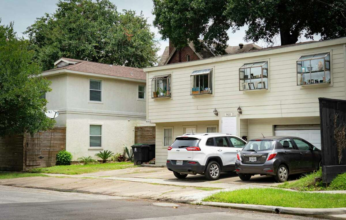 A Montrose home has a garage apartment tucked behind it. The city is considering changes to its planning code that would make it easier to build such apartments, along with triplex and quadplex developments.