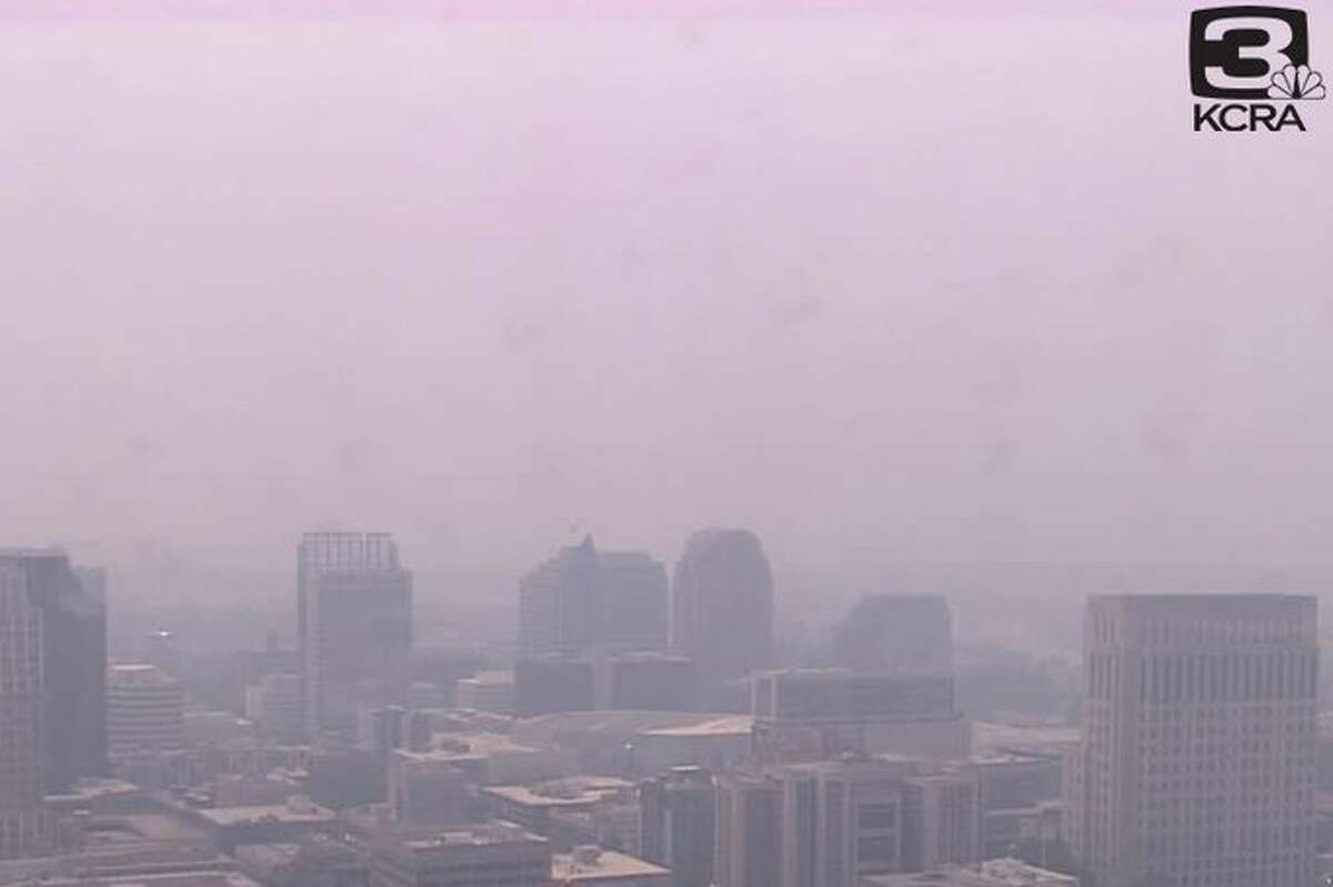 Smoke from the Dixie Fire flooded downtown Sacramento on July 28, 2021.