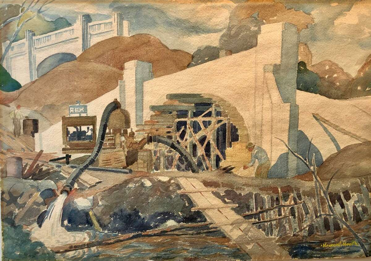 "Howard Heath, ""Watercolor of the Merritt Parkway"""