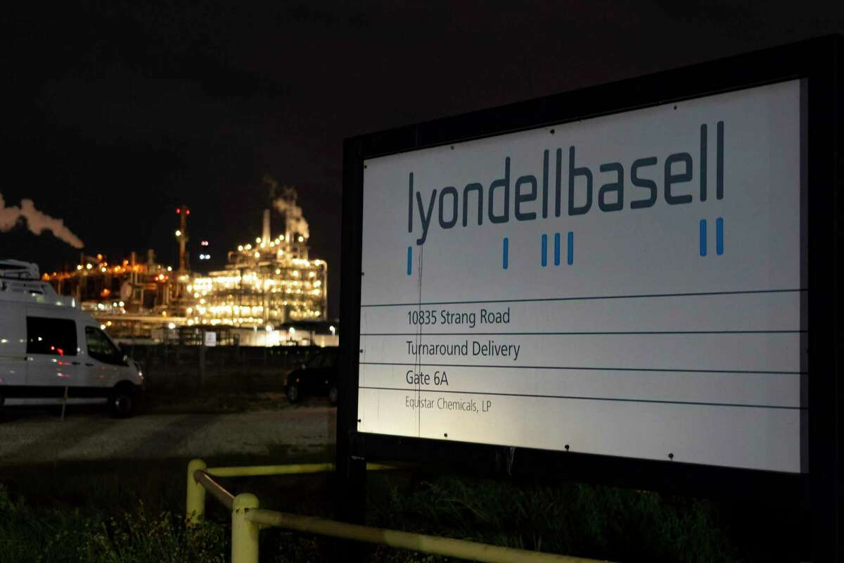 Portions of the LyondellBasell facility in La Porte can be seen from an area east of Miller Cut Off Road, Tuesday, July 27, 2021. An explosion Tuesday evening killed two people at the facility and left several others injured according to Harris County Fire Marshal Laurie Christensen.