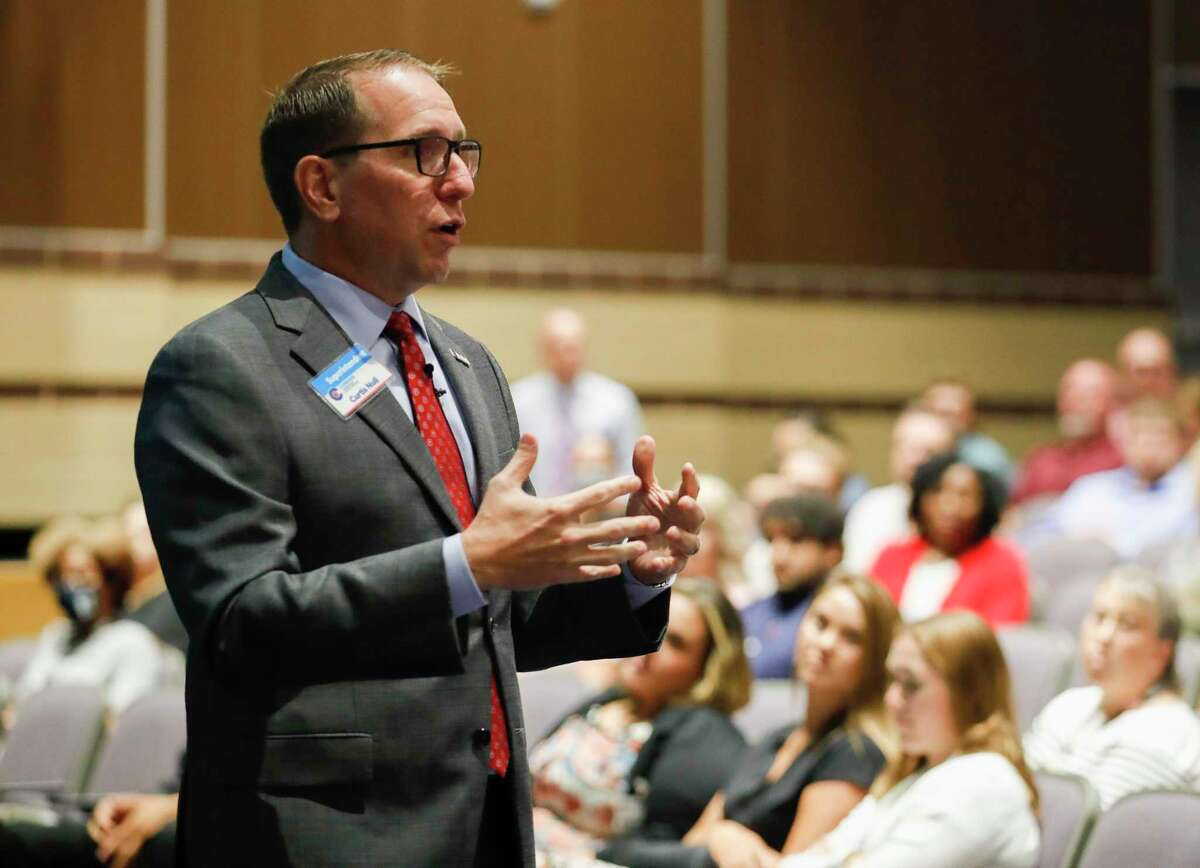 In a presentation on the district's COVID-19 plan, Conroe ISD Superintendent Curtis Null announced the district now has the authority to send students who test positive with COVID home.