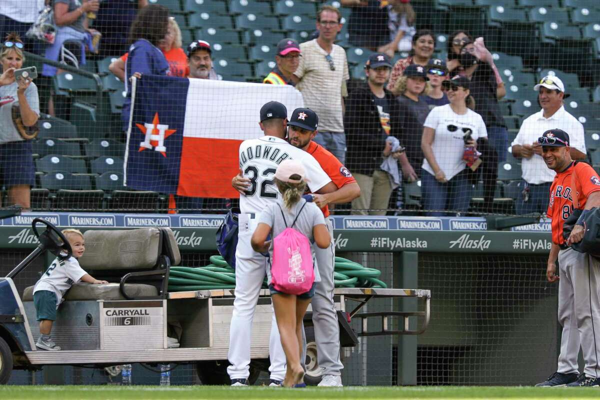 New Astros reliever Kendall Graveman said his goodbyes to his former Mariners mates such as pitching coach Pete Woodworth after Wednesday's game in Seattle. Graveman will now be counted on to upgrade an Astros bullpen that's been leaky this season save for All-Star closer Ryan Pressly.
