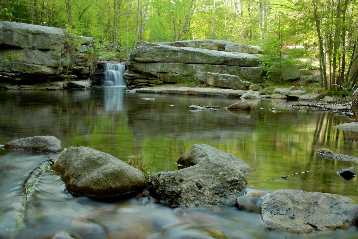 Some swimming holes are open secrets, like the wading pool near Split Rock in Mohonk Preserve.