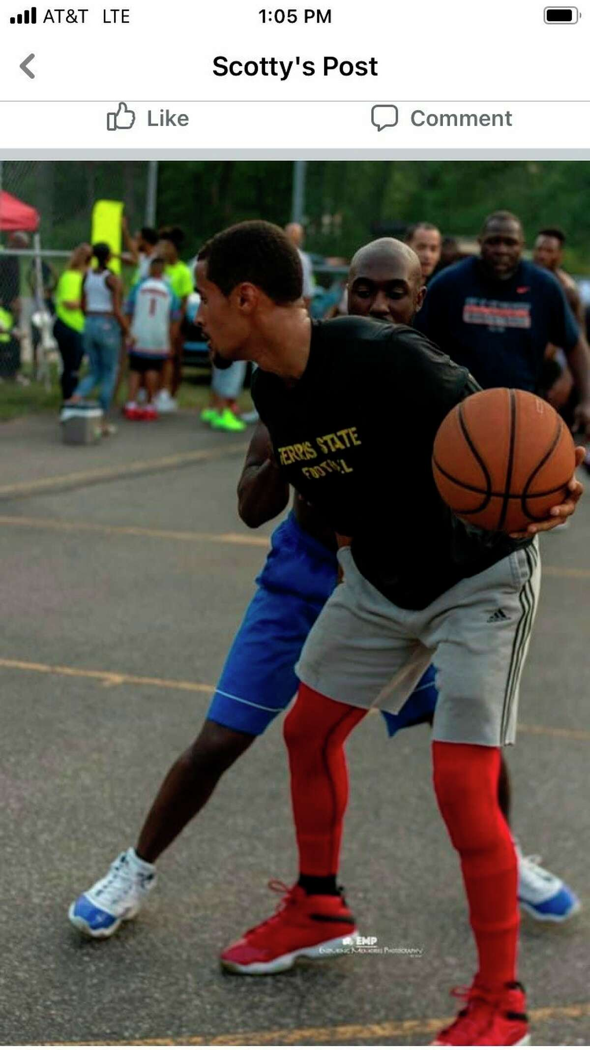 Former Baldwin All-Stater Brandon Childress was among the players in Friday's Walkin Bucket tournament at Hollister Park. (Courtesy photo)
