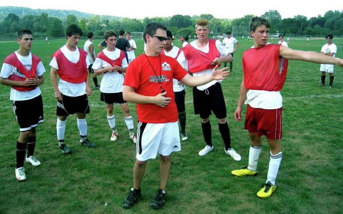 SPECTRUM/New Milford High School boys' soccer coach James Tong, Sept. 2, 2010.