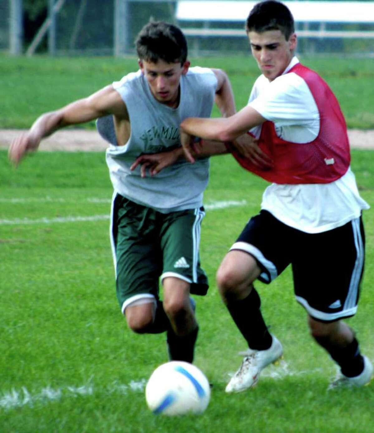 SPECTRUM/New Milford High School boys' soccer, Sept. 2, 2010.