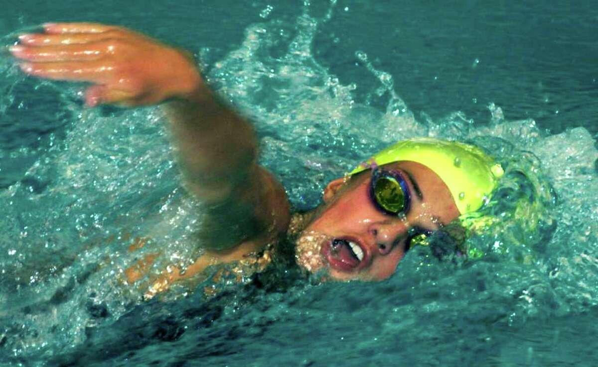 SPECTRUM/New Milford High School girls' swimming, Sept. 2, 2010.