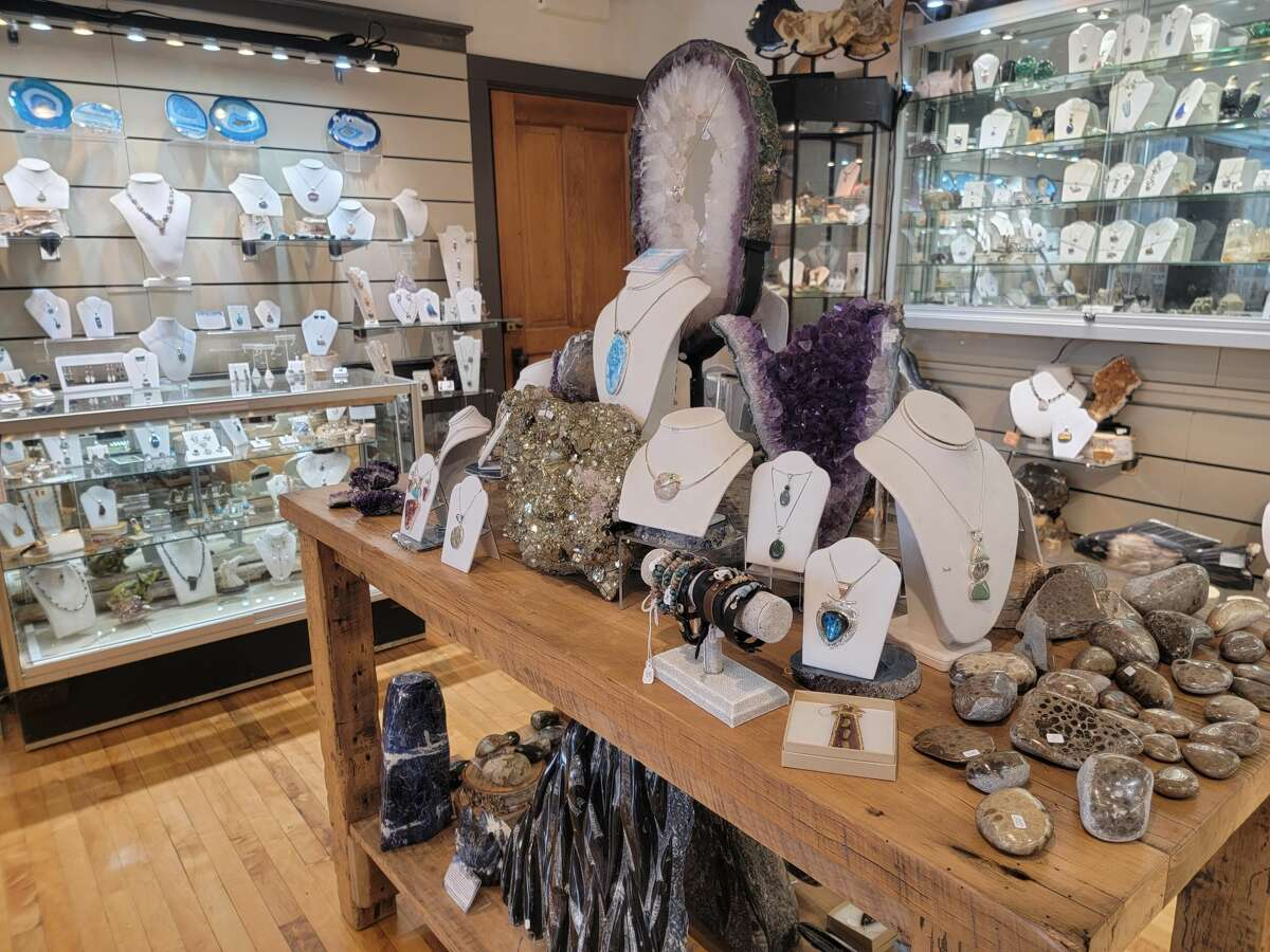 Korner Gem, in downtown Frankfort, offers a wide variety of jewelry and gifts made from local stones, as well as stones such as turquoise and lapis. (Colin Merry/Record Patriot)