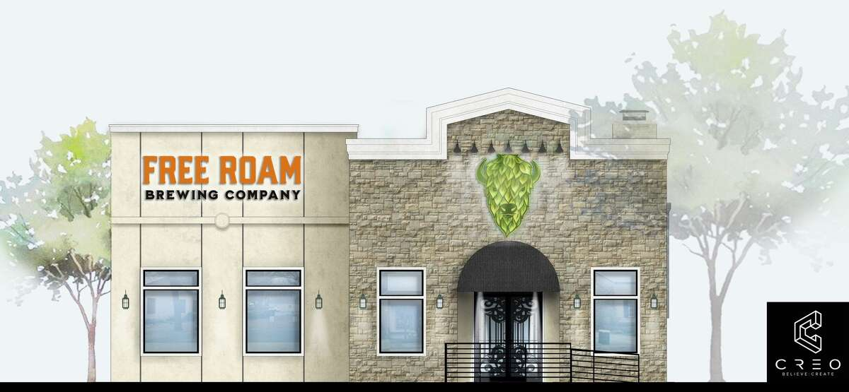 A rendering of Free Roam Brewing Company. The owners expect to launch the brewery on 325 S. Main St in Boerne in early October.