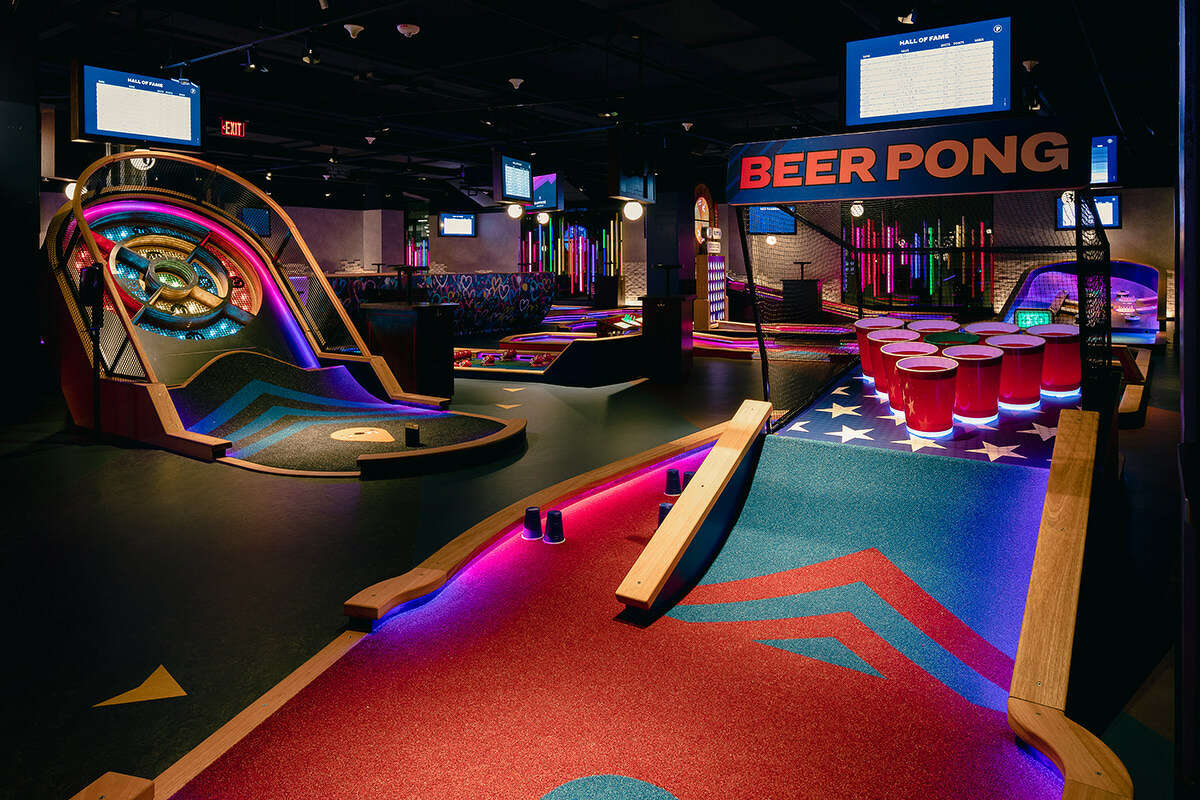 Puttshack made its U.S. debut in Atlanta in April. The tech-infused mini golf experience will occupy more than 26,000 square feet in the Shops at Houston Center in late 2022.