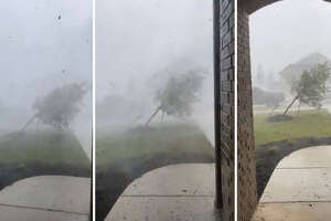Cody Holder took video of a microburst hitting Georgetown, Texas on July 28, 2021.