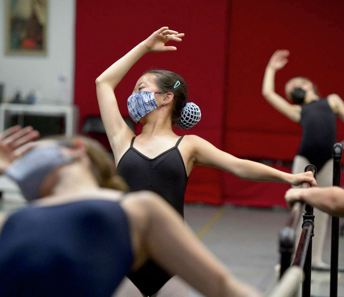 Hadley Hopke participates in a class at The Ridgefield Conservatory of Dance. The conservatory is the only nonprofit dance school in the town's designated cultural district. July 23, 2021, in Ridgefield, Conn.