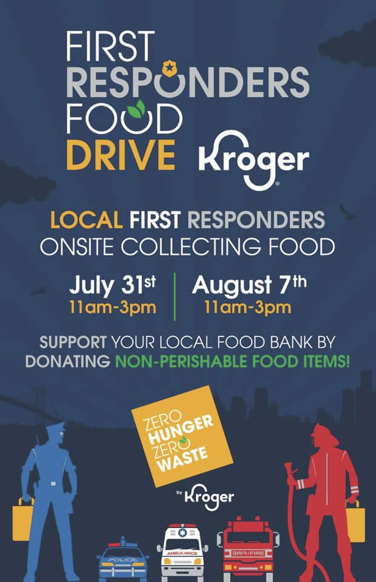 During the four-hour block, first responders will be collecting donations that will be placed in a patrol car.