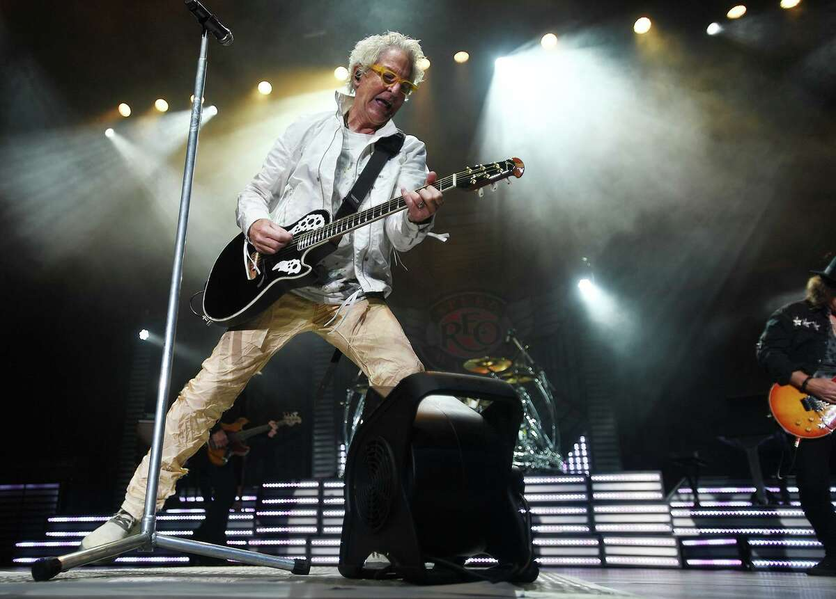 Kevin Cronin performs with REO Speedwagon on the opening night of the new Hartford Healthcare Amphitheater, a conversion of the former Harbor Yard Ballpark, in Bridgeport, Conn. on Wednesday, July 28, 2021.