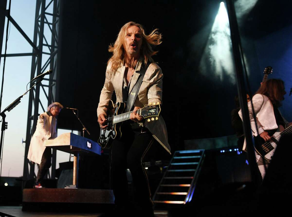 Tommy Shaw and the band Styx performs on the opening night of the new Hartford Healthcare Amphitheater, a conversion of the former Harbor Yard Ballpark, in Bridgeport, Conn. on Wednesday, July 28, 2021.