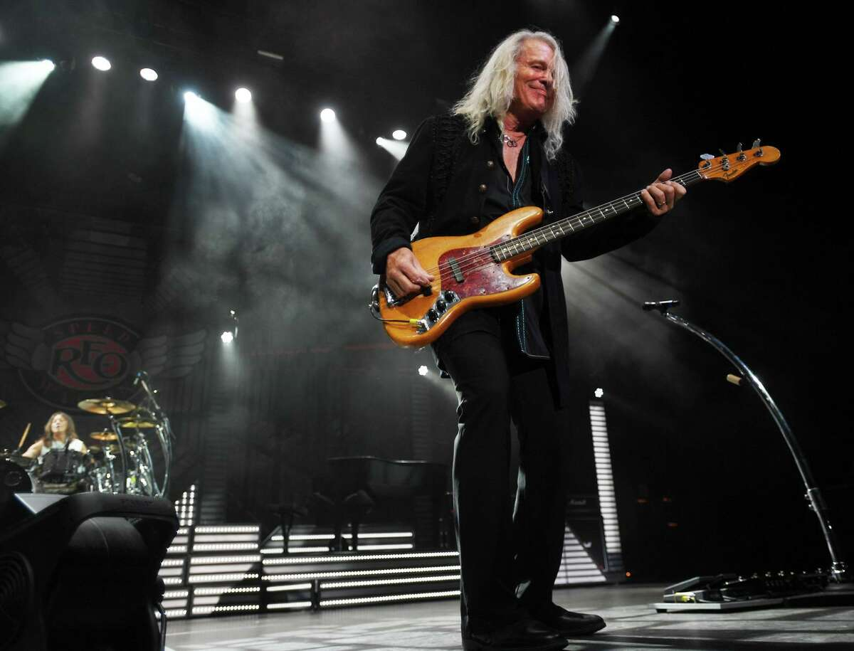 Bruce Hall performs with REO Speedwagon on the opening night of the new Hartford Healthcare Amphitheater, a conversion of the former Harbor Yard Ballpark, in Bridgeport, Conn. on Wednesday, July 28, 2021.